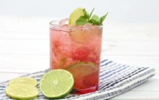 Raspberry Lime Ricky Cocktail