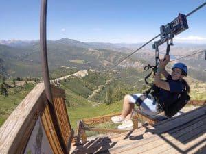 Ziplining at Sundance