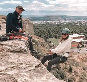 Rappelling in Billings, Montana at The Rims
