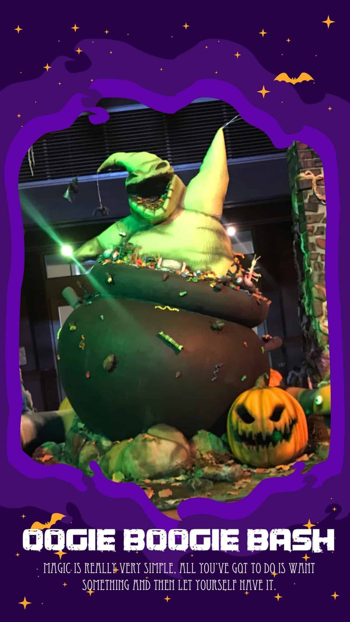 Find out everything you need to know about the Oogie boogie bash