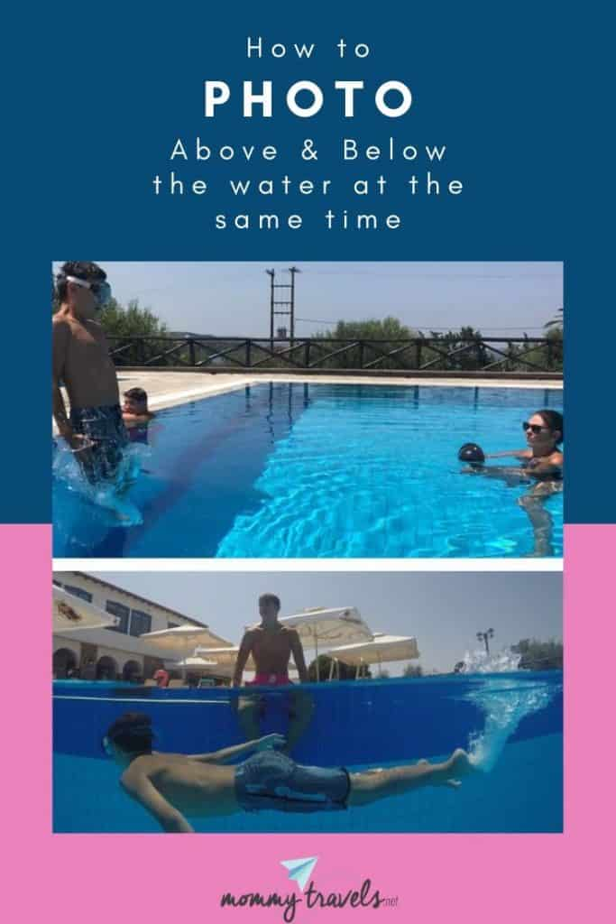 How to take a photo above and below the water at the same time
