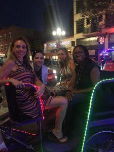Riding around the Gas Lamp Quarter