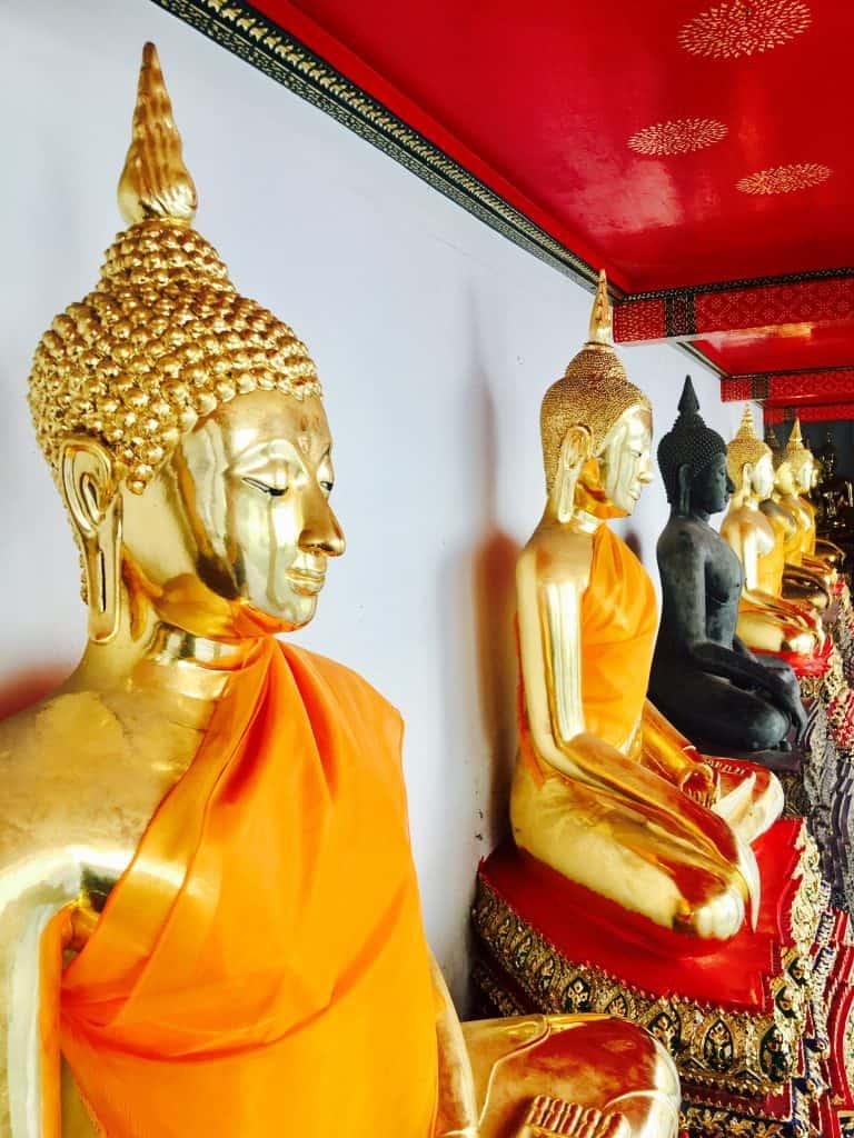 golden Buddhas at Wat Pho