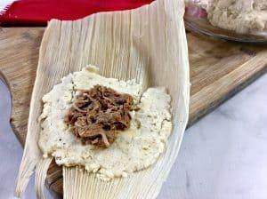 Step by step tamales recipe