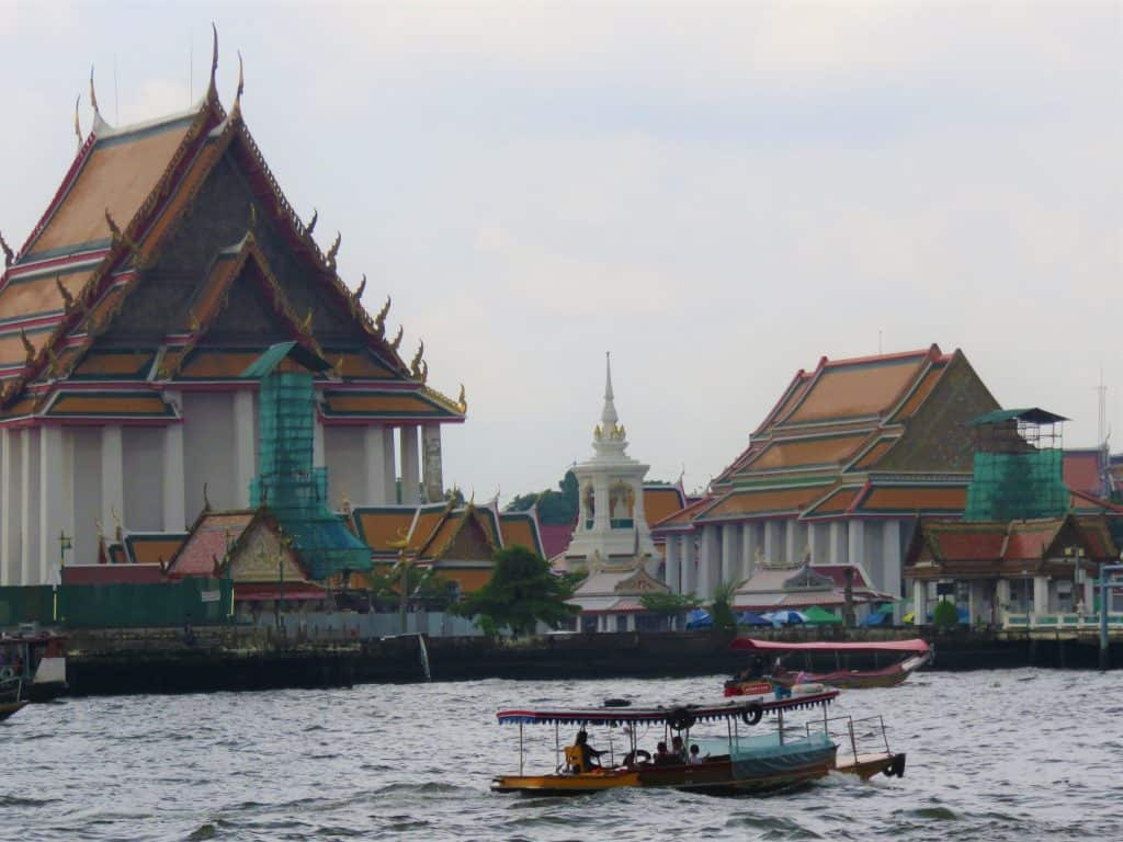 View of Bangkok from a River Cruise