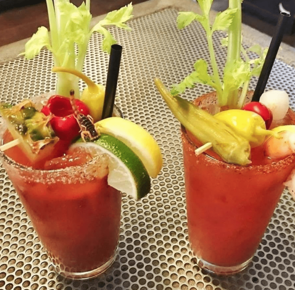 Scorpion Bloody Mary at Genie's Cafe in Portland, Oregon