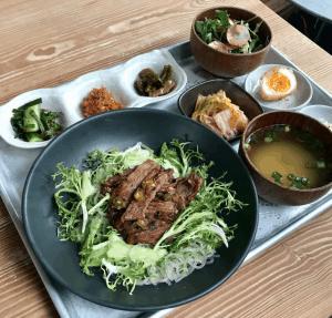 Grilled Pork Japjae Brunch Set at Her Name is Han