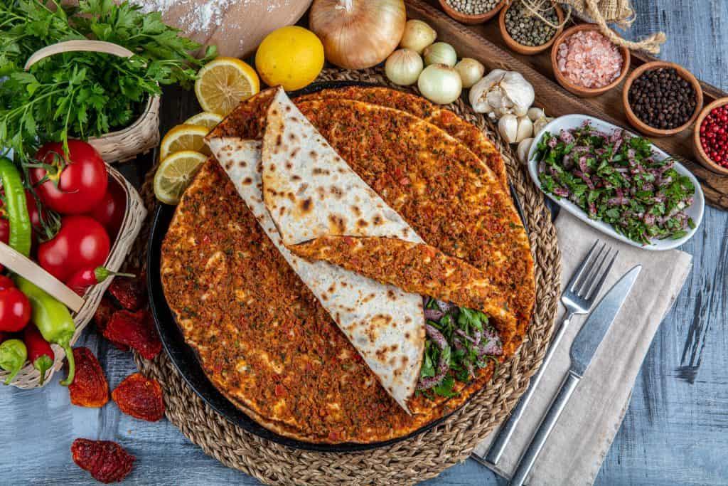 Lahmacun aka Turkish Pizza