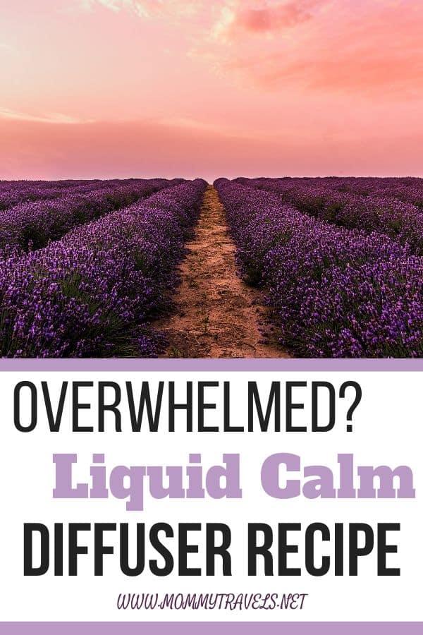 Liquid Calm diffuser recipe to combat against stress