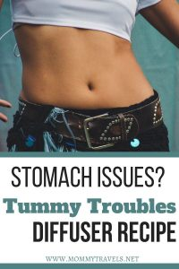 Tummy Troubles diffuser recipe to help with upset stomach