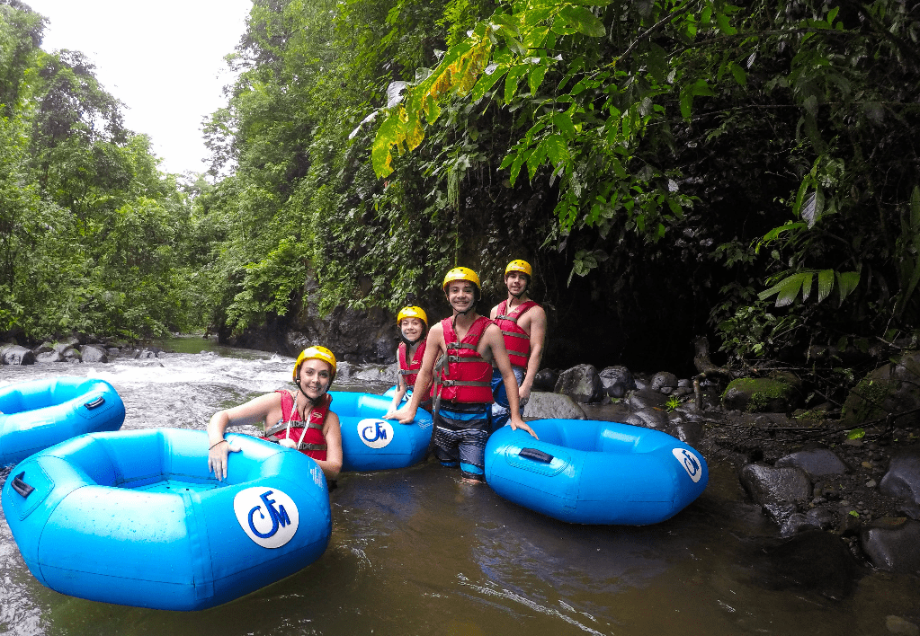 White Water Tubing in La Fortuna with Go Adventure Arenal Park