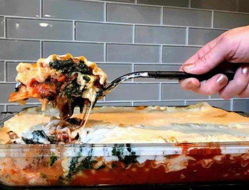 Two-Sauce Italian Sausage Lasagna