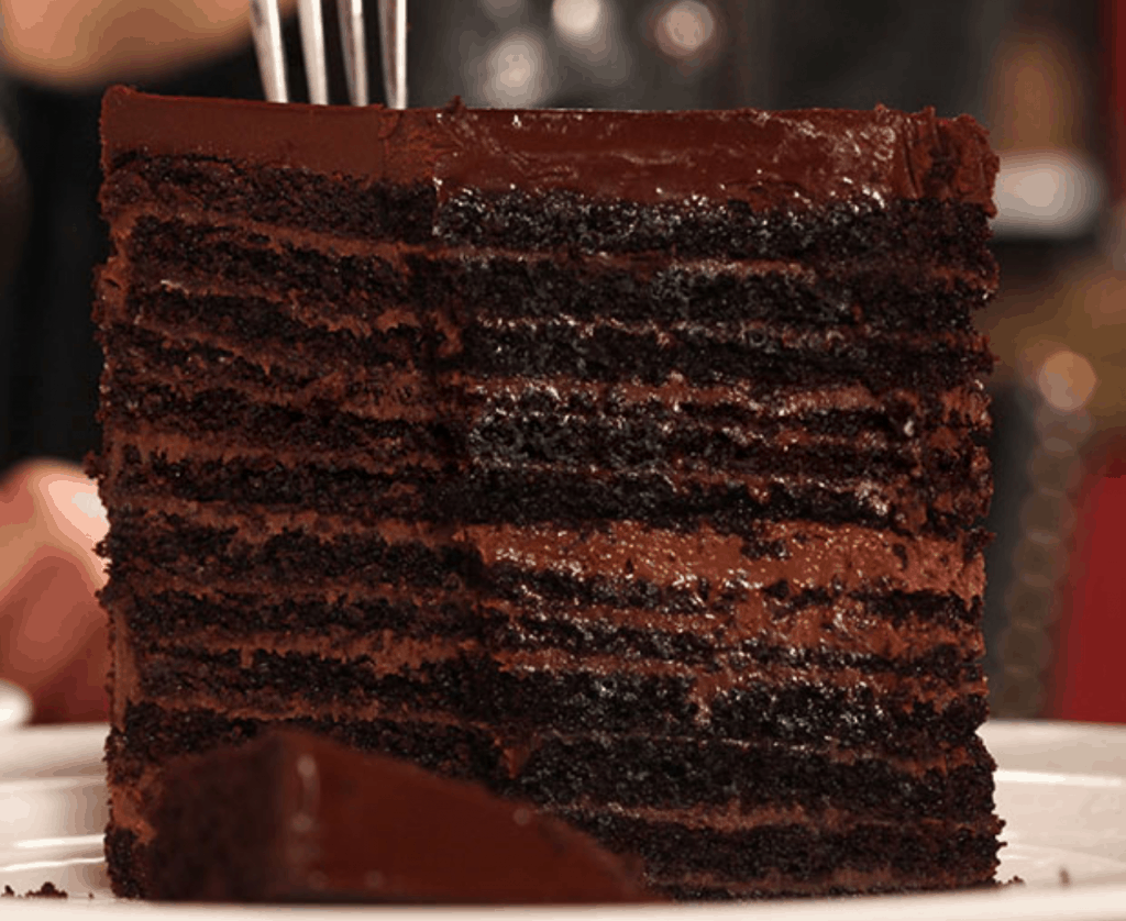 Strip House: 24-Layer Chocolate Cake