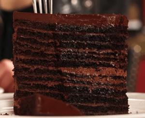 Strip House: 24-Layer Chocolate Cake