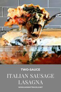 Two Sauce Italian Sausage Lasagna Recipe