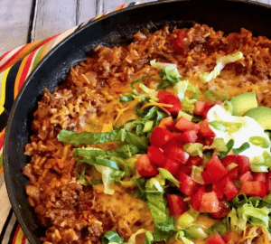 One pot taco beef and rice
