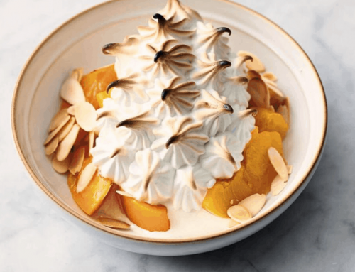 Peach and Almond Alaska with Toasted Meringue Recipe