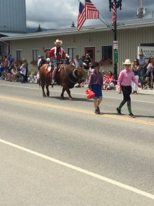 Bullrider Parade in Red Lodge Montana