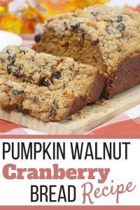 Pumpkin Bread Recipe with Cranberries and Walnuts
