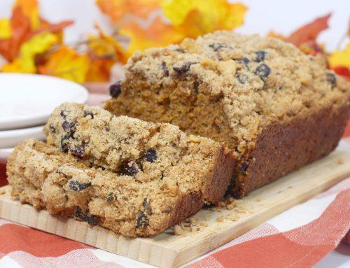 Pumpkin Cranberry Walnut Streusel Bread Recipe