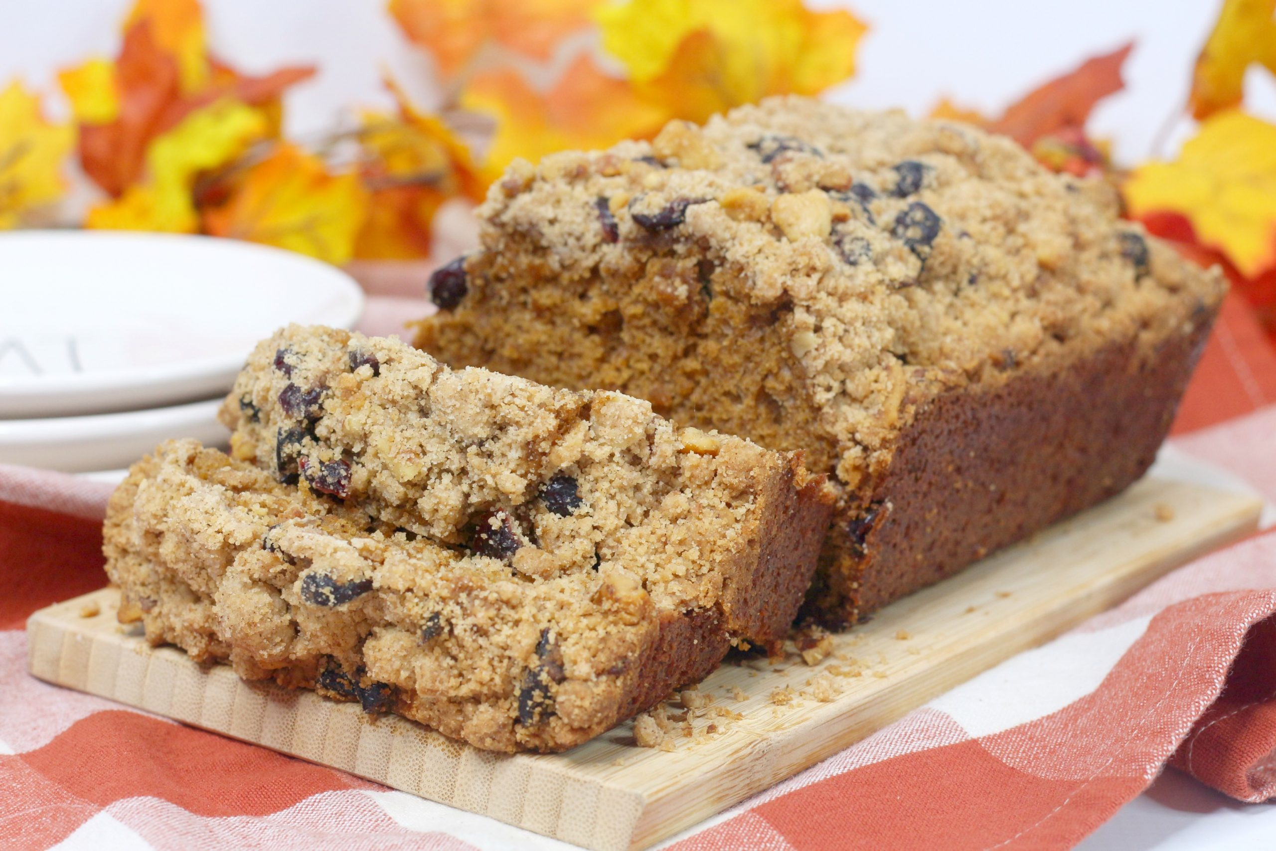 pumpkin cranberry walnut bread recipe