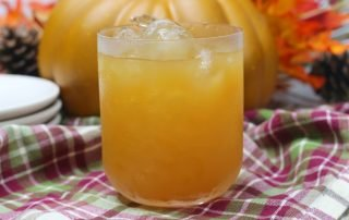 Pumpkin Apple Cider Cocktail with Bourbon