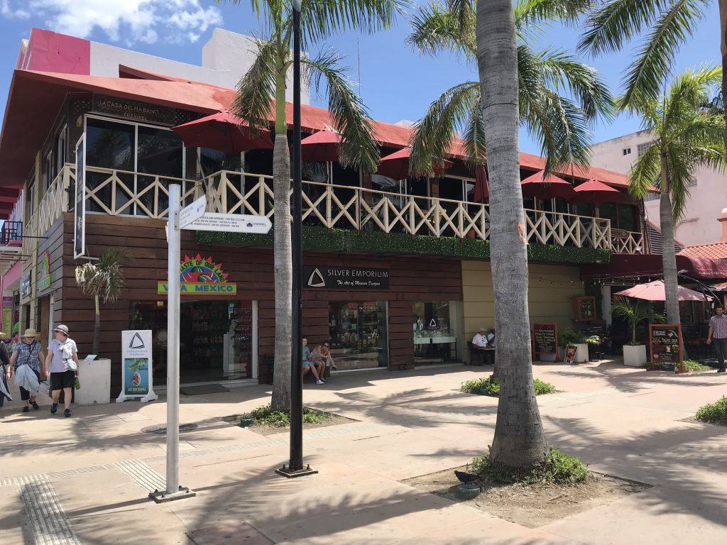Shopping in downtown Cozumel