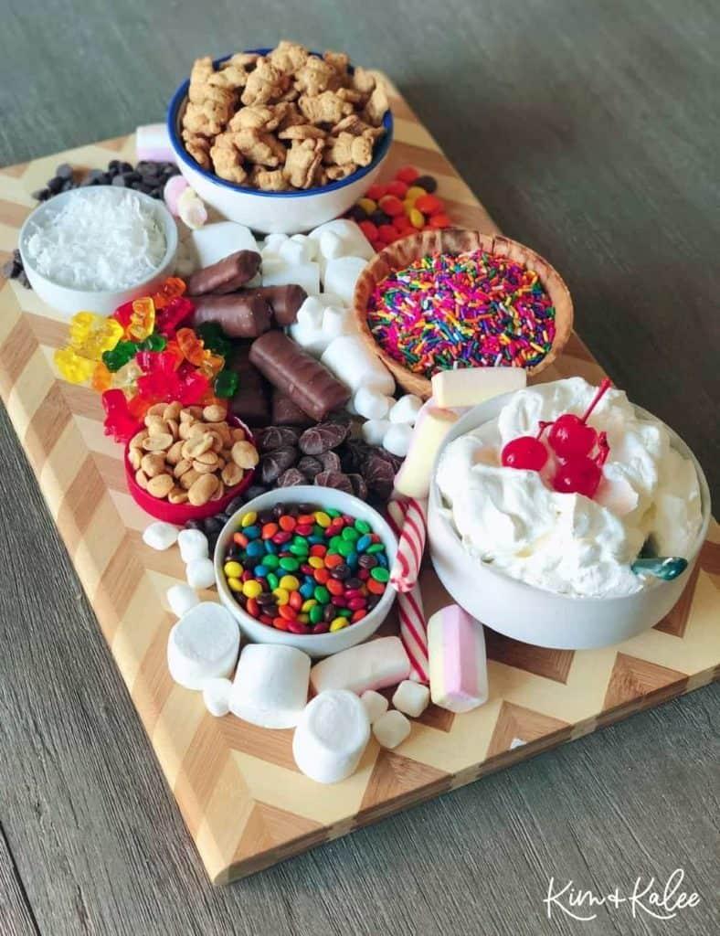 Ice Cream Sundae Charcuterie Board