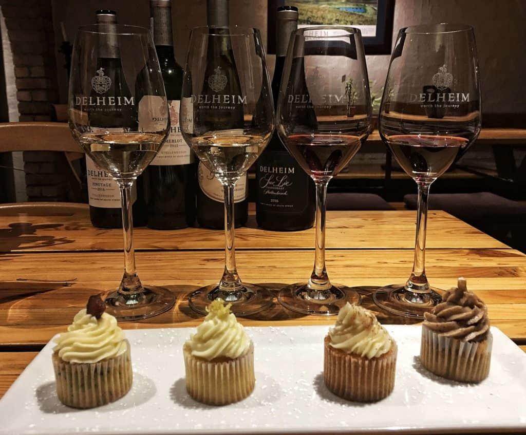 wine and cupcake tasting Delheim Stellenbosch