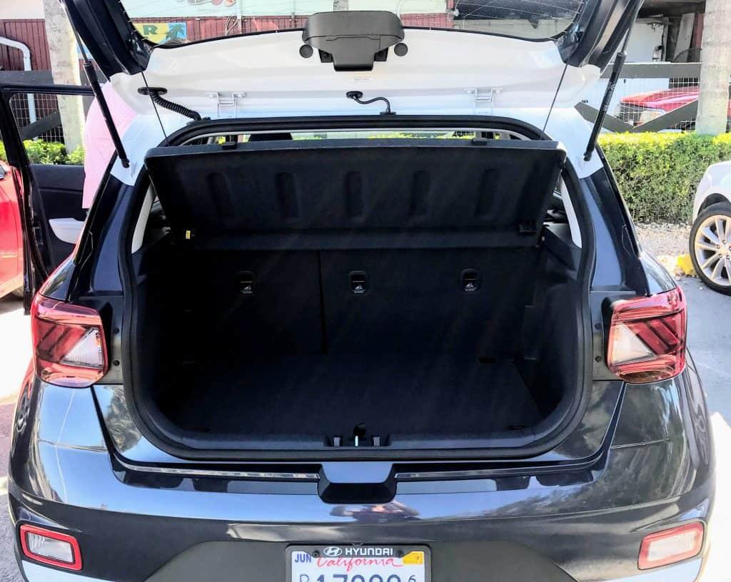 2020 Hyundai Venue Trunk Space
