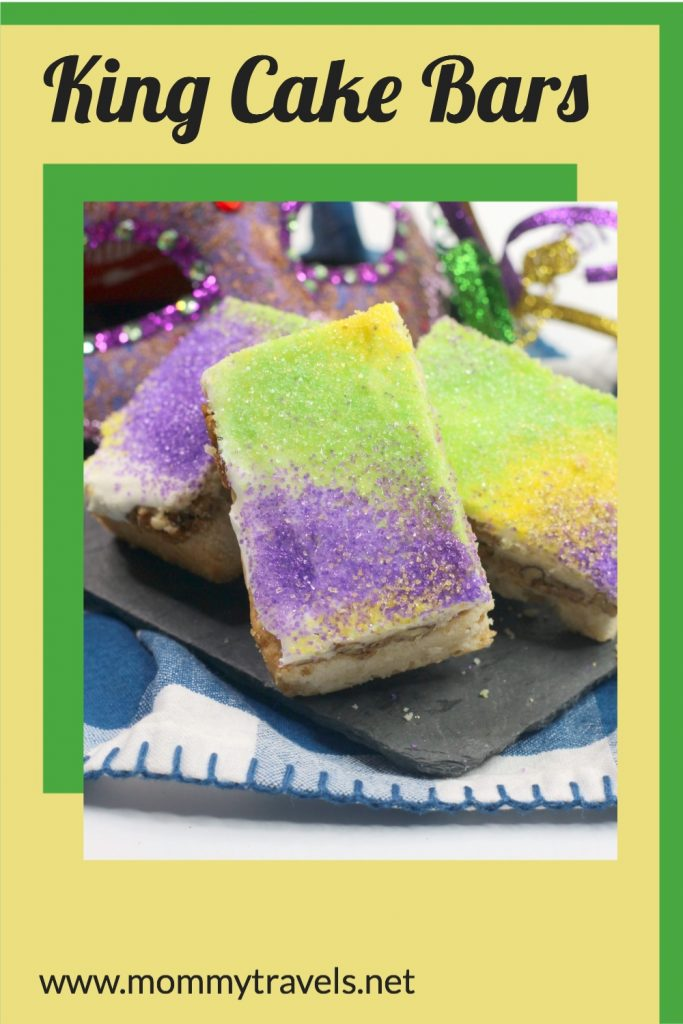 King Cake Bars the perfect Mardi Gras dessert