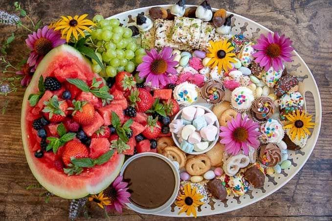 A sweet dessert platter