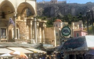 Monastiraki flee market in Athens Greece