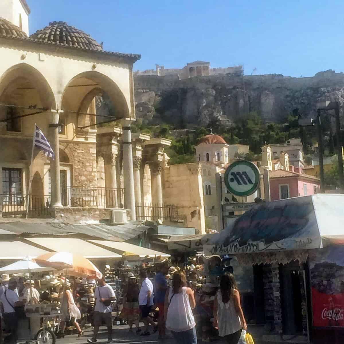 Monastiraki flee market in Athens Greece