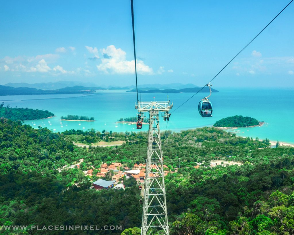 Sky bridge and cable car in Langkawi