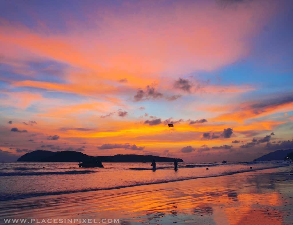 Sunset at Pantai Cenang Beach