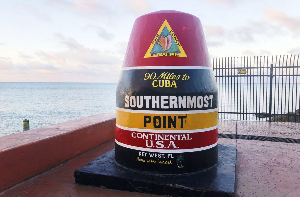 Southernmost Point Buoy in Key West, Florida