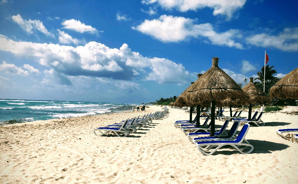 The beach at Grand Bahia Principe Tulum