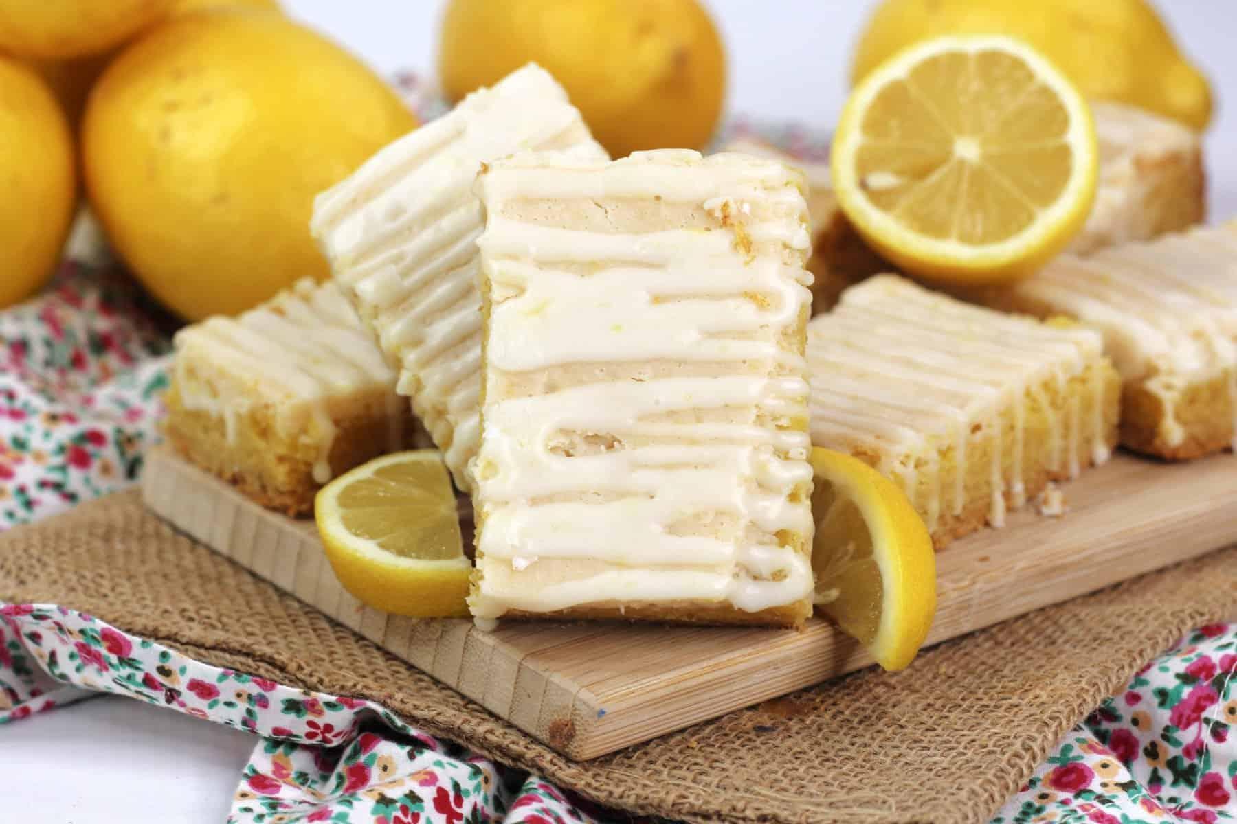 Lemon Cake Mix Bars Recipe