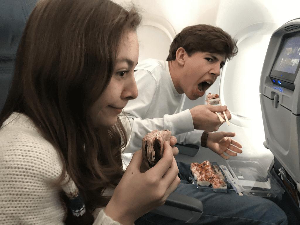 Bring snacks onto the plane