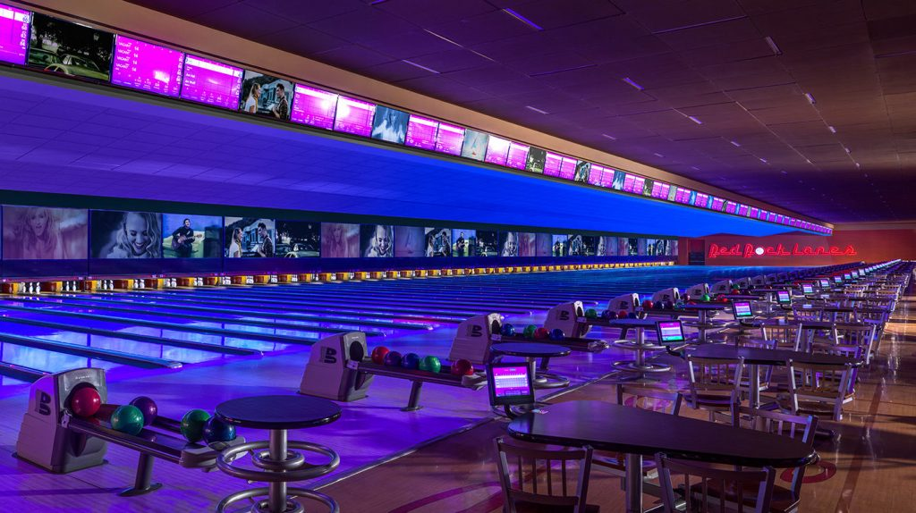 Red Rock Lanes bowling alley at Red Rock Casino