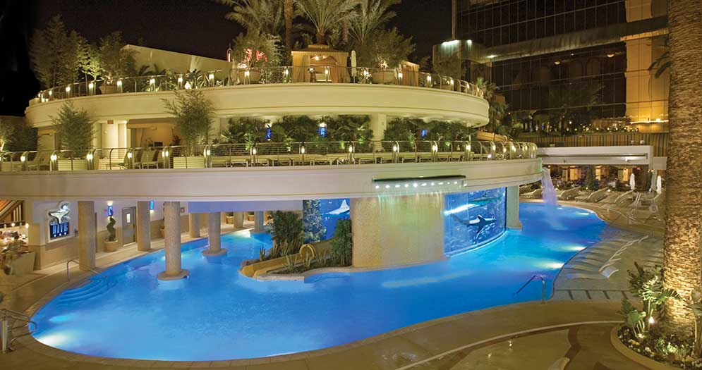 The Tank pool at the Golden Nugget